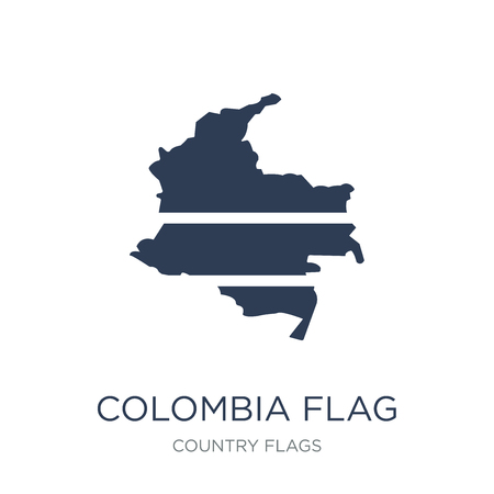 Colombia flag icon. Trendy flat vector Colombia flag icon on white background from Country Flags collection, vector illustration can be use for web and mobile, eps10