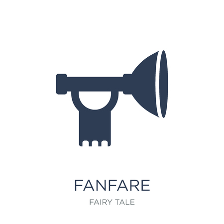 Fanfare icon. Trendy flat vector Fanfare icon on white background from Fairy Tale collection, vector illustration can be use for web and mobile, eps10