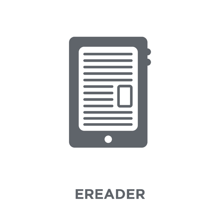 Ereader icon. Ereader design concept from Electronic devices collection. Simple element vector illustration on white background.
