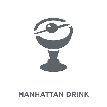 manhattan drink icon. manhattan drink design concept from Drinks collection. Simple element vector illustration on white background.