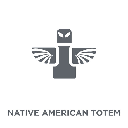 Native American Totem icon. Native American Totem design concept from American Indigenous Signals collection. Simple element vector illustration on white background.