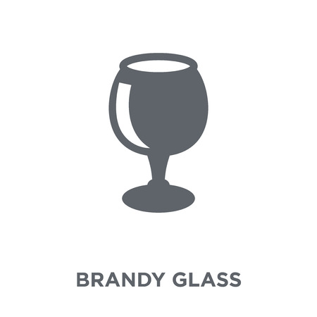 Brandy glass icon. Brandy glass design concept from Drinks collection. Simple element vector illustration on white background.