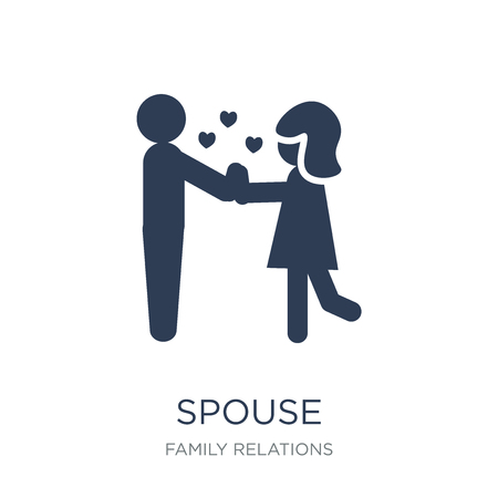 spouse icon. Trendy flat vector spouse icon on white background from family relations collection, vector illustration can be use for web and mobile, eps10 Foto de archivo - 111945846