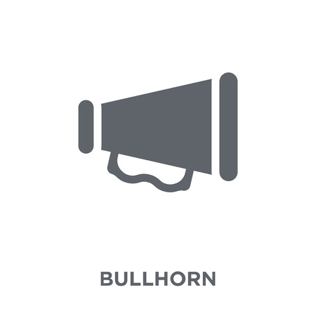Bullhorn icon. Bullhorn design concept from Communication collection. Simple element vector illustration on white background. Illustration