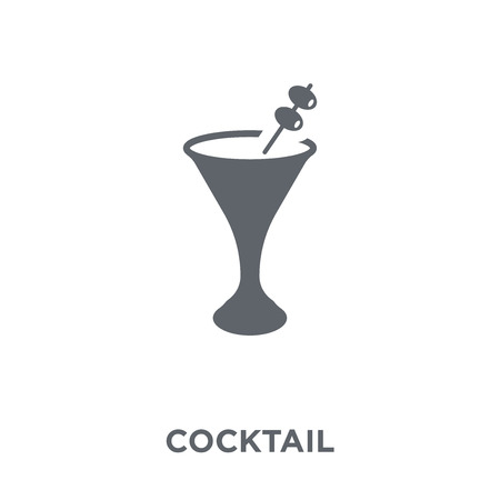 Cocktail icon. Cocktail design concept from Drinks collection. Simple element vector illustration on white background.