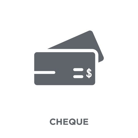 Cheque icon. Cheque design concept from  collection. Simple element vector illustration on white background. Stock Illustratie