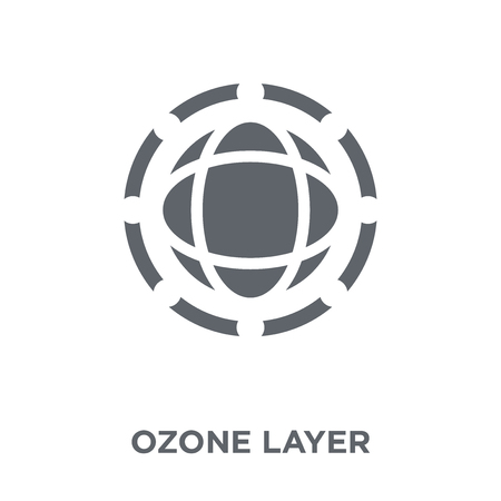 Ozone layer icon. Ozone layer design concept from Ecology collection. Simple element vector illustration on white background. Çizim
