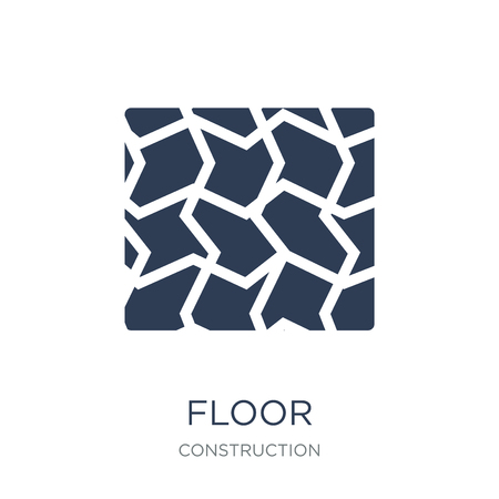 Floor icon. Trendy flat vector Floor icon on white background from Construction collection, vector illustration can be use for web and mobile, eps10