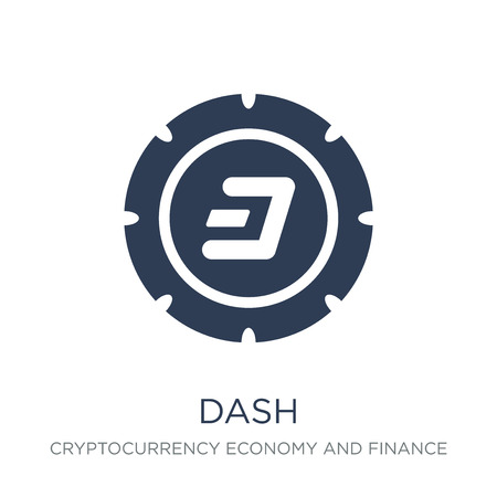 Dash icon. Trendy flat vector Dash icon on white background from Cryptocurrency economy and finance collection, vector illustration can be use for web and mobile, eps10