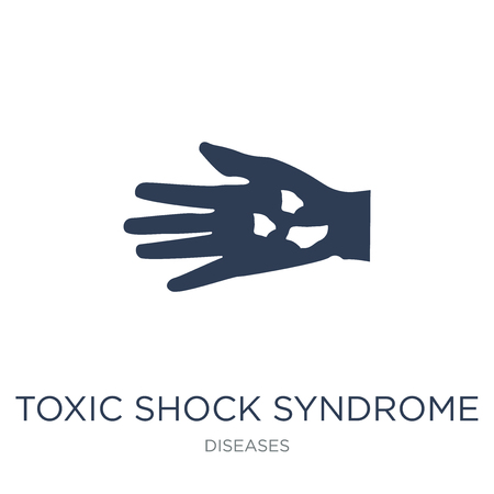 Toxic shock syndrome icon. Trendy flat vector Toxic shock syndrome icon on white background from Diseases collection, vector illustration can be use for web and mobile, eps10