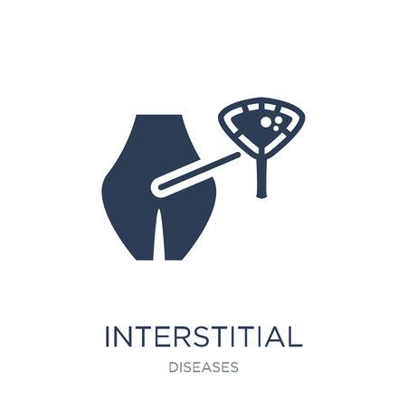 Symbol für interstitielle Zystitis. Trendiges flaches Vektorsymbol für interstitielle Zystitis auf weißem Hintergrund aus der Sammlung von Krankheiten, Vektorillustration kann für Web und Mobile verwendet werden, eps10