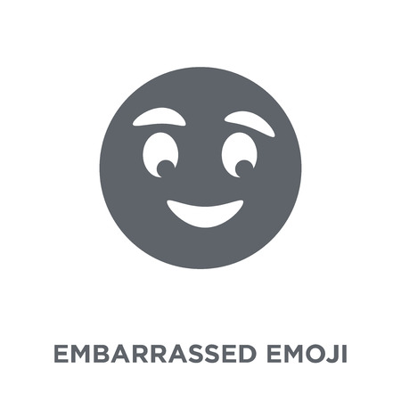 Embarrassed emoji icon. Embarrassed emoji design concept from Emoji collection. Simple element vector illustration on white background.