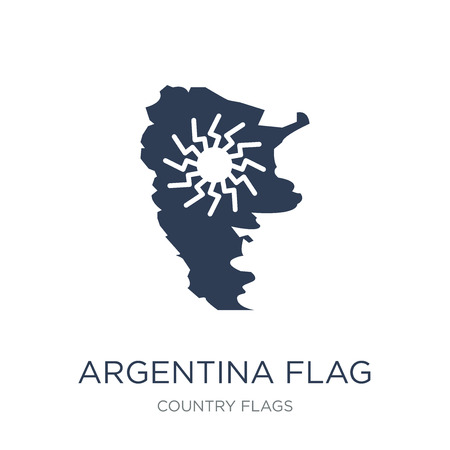 Argentina flag icon. Trendy flat vector Argentina flag icon on white background from Country Flags collection, vector illustration can be use for web and mobile, eps10