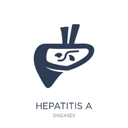 Hepatitis A icon. Trendy flat vector Hepatitis A icon on white background from Diseases collection, vector illustration can be use for web and mobile, eps10