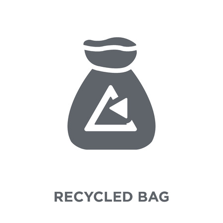 Recycled bag icon. Recycled bag design concept from Ecology collection. Simple element vector illustration on white background.