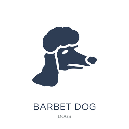 Barbet dog icon. Trendy flat vector Barbet dog icon on white background from dogs collection, vector illustration can be use for web and mobile, eps10 Ilustração