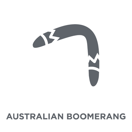 Australian Boomerang icon. Australian Boomerang design concept from Australia collection. Simple element vector illustration on white background. Stock Vector - 111954750