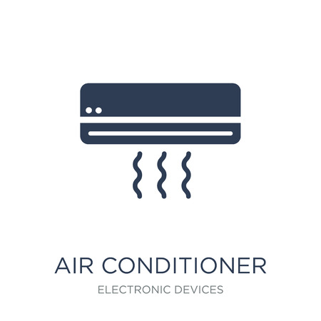 Air conditioner icon. Trendy flat vector Air conditioner icon on white background from Electronic devices collection, vector illustration can be use for web and mobile, eps10