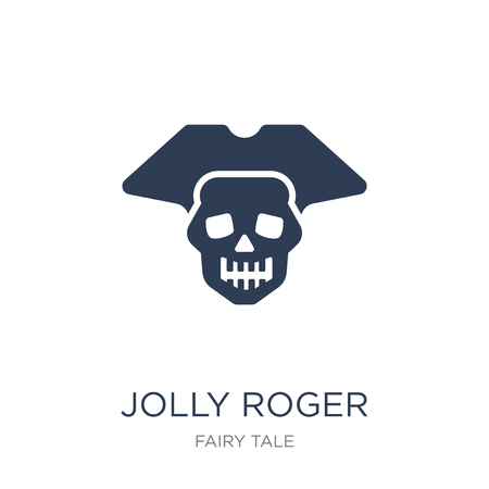 Jolly roger icon. Trendy flat vector Jolly roger icon on white background from Fairy Tale collection, vector illustration can be use for web and mobile, eps10 向量圖像