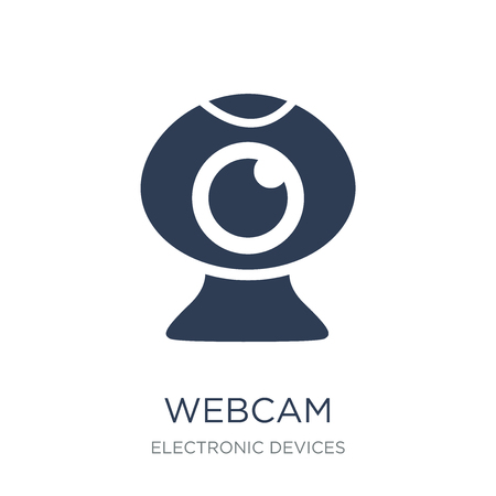 Webcam icon. Trendy flat vector Webcam icon on white background from Electronic devices collection, vector illustration can be use for web and mobile, eps10