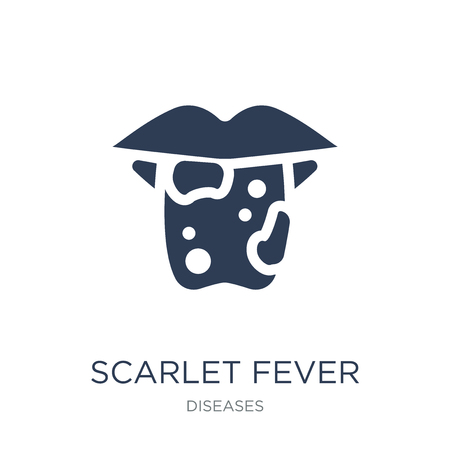 Scarlet fever icon. Trendy flat vector Scarlet fever icon on white background from Diseases collection, vector illustration can be use for web and mobile, eps10