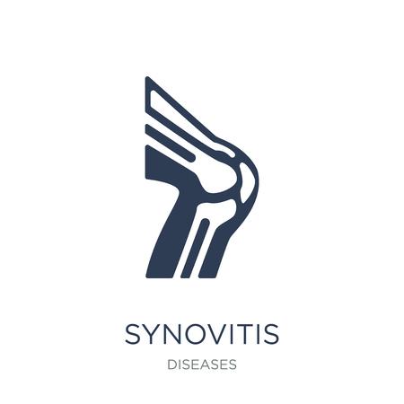 Icône de la synovite. Icône de synovite vecteur plat sur fond blanc de la collection maladies, illustration vectorielle peut être utilisé pour le web et mobile, eps10 Vecteurs