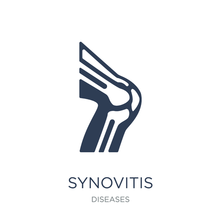 Synovitis icon. Trendy flat vector Synovitis icon on white background from Diseases collection, vector illustration can be use for web and mobile, eps10 Çizim