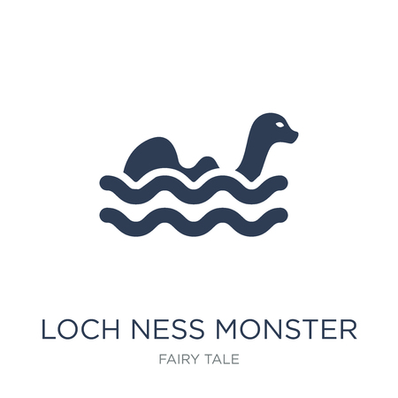 Loch ness monster icon. Trendy flat vector Loch ness monster icon on white background from Fairy Tale collection, vector illustration can be use for web and mobile, eps10