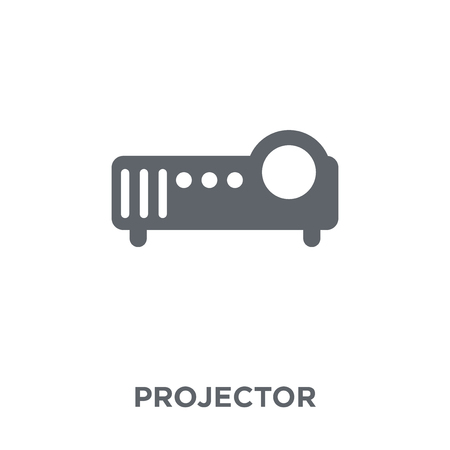 Projector icon. Projector design concept from Electronic devices collection. Simple element vector illustration on white background.