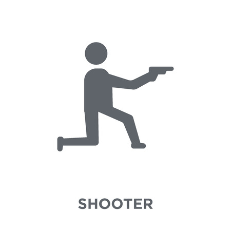 Shooter icon. Shooter design concept from Arcade collection. Simple element vector illustration on white background. Illusztráció