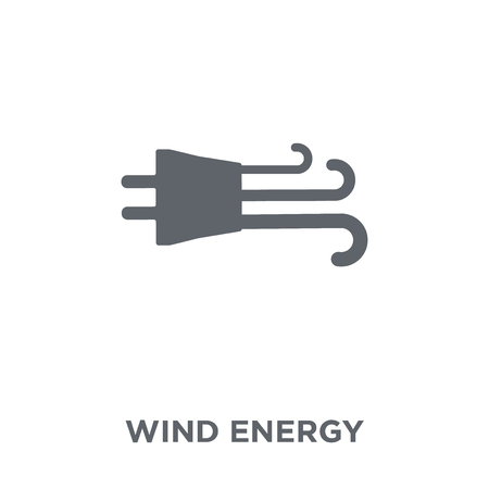 Wind energy icon. Wind energy design concept from Ecology collection. Simple element vector illustration on white background.