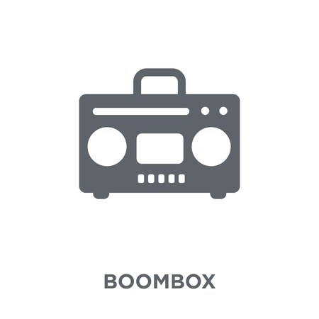 Boombox icon. Boombox design concept from Electronic devices collection. Simple element vector illustration on white background.