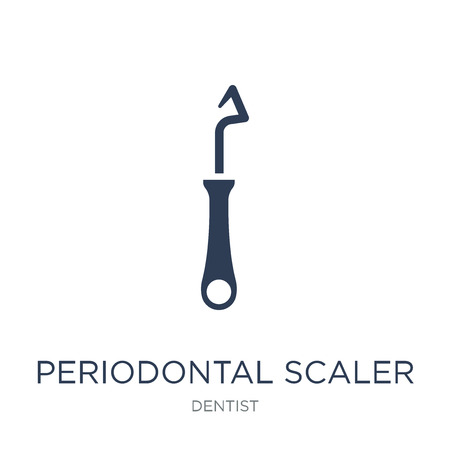 Periodontal scaler icon. Trendy flat vector Periodontal scaler icon on white background from Dentist collection, vector illustration can be use for web and mobile, eps10 Illustration