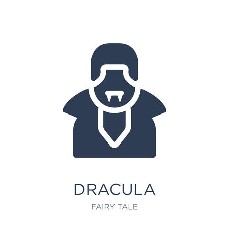 Dracula icon. Trendy flat vector Dracula icon on white background from Fairy Tale collection, vector illustration can be use for web and mobile, eps10 스톡 콘텐츠 - 112095642