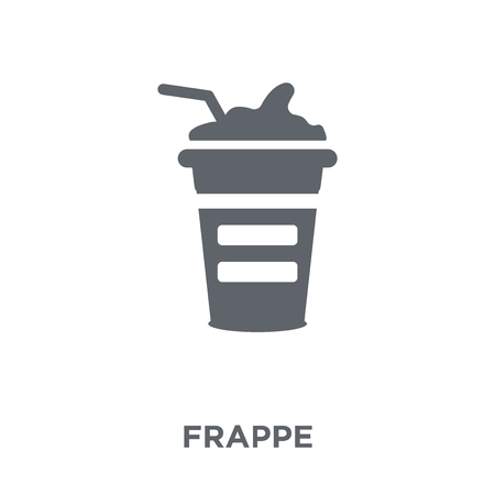Frappe icon. Frappe design concept from Drinks collection. Simple element vector illustration on white background.