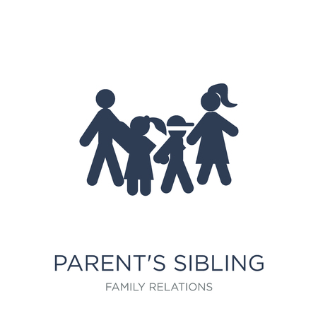 parent's sibling icon. Trendy flat vector parent's sibling icon on white background from family relations collection, vector illustration can be use for web and mobile, eps10