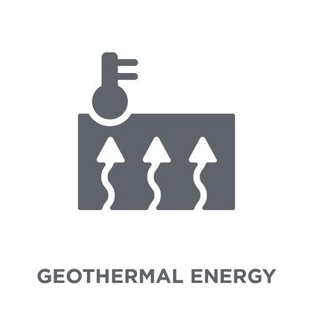 Icône de l'énergie géothermique. Concept de design d'énergie géothermique de la collection Ecology. Illustration vectorielle élément simple sur fond blanc.