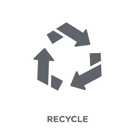 Recycle icon. Recycle design concept from Ecology collection. Simple element vector illustration on white background.