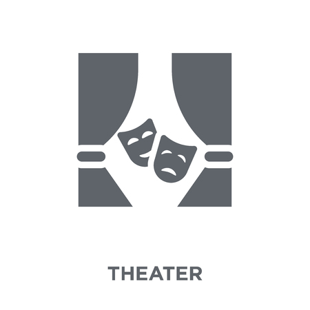 Theater icon. Theater design concept from Entertainment collection. Simple element vector illustration on white background. Illustration