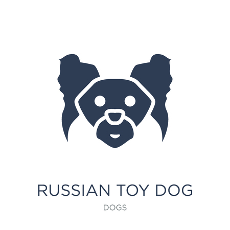 Russian Toy dog icon. Trendy flat vector Russian Toy dog icon on white background from dogs collection, vector illustration can be use for web and mobile, eps10
