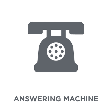 answering machine icon. answering machine design concept from Electronic devices collection. Simple element vector illustration on white background. Illustration
