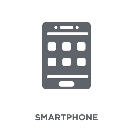 Smartphone icon. Smartphone design concept from Communication collection. Simple element vector illustration on white background.