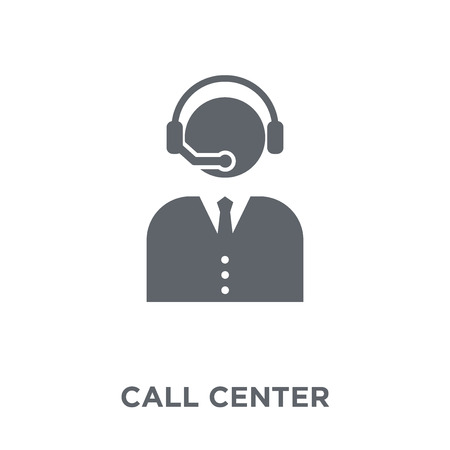 Call center icon. Call center design concept from Communication collection. Simple element vector illustration on white background. 矢量图像