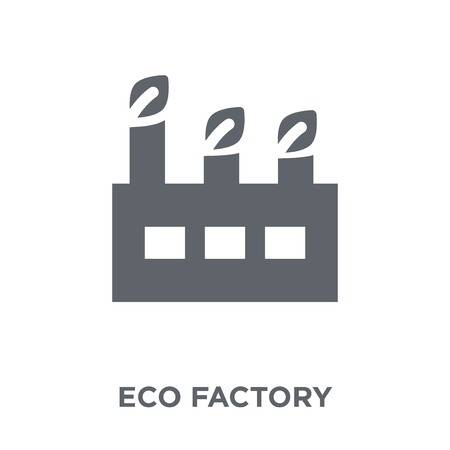 eco Factory icon. eco Factory design concept from Ecology collection. Simple element vector illustration on white background. Ilustração