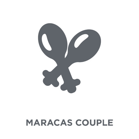 Maracas couple icon. Maracas couple design concept from Brazilian icons collection. Simple element vector illustration on white background.