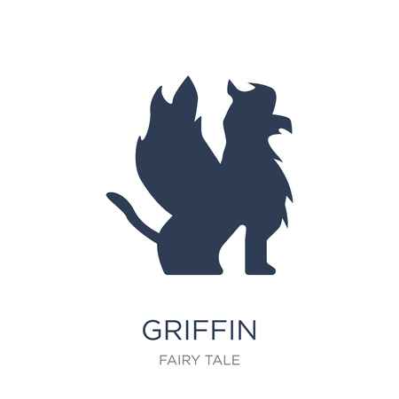 Griffin icon. Trendy flat vector Griffin icon on white background from Fairy Tale collection, vector illustration can be use for web and mobile, eps10 Foto de archivo - 112095912