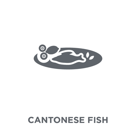 Cantonese Fish icon. Cantonese Fish design concept from Chinese Food collection. Simple element vector illustration on white background. Çizim
