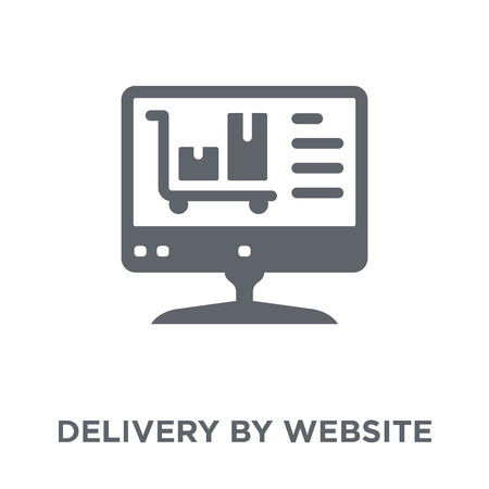 Delivery by Website icon. Delivery by Website design concept from Delivery and logistic collection. Simple element vector illustration on white background.
