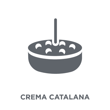 Crema Catalana icon. Crema Catalana design concept from Spanish Food collection. Simple element vector illustration on white background. 일러스트