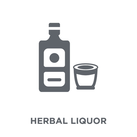 Herbal liquor icon. Herbal liquor design concept from Drinks collection. Simple element vector illustration on white background. 向量圖像